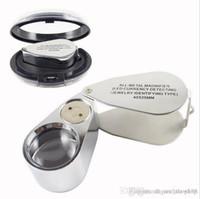 핫 판매 시계 수리 도구 금속 보석 LED 현미경 돋보기 돋보기 확대경 UV 빛을 가진 플라스틱 상자 40 배의 25mm