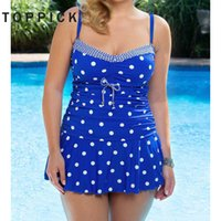 5XL Plus Size Swimwear Women One Piece Swimsuit Women Polka ...
