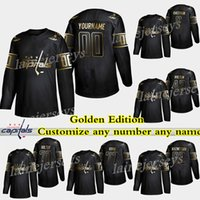 Washington Capitals Golden Edition 8 Alex Ovechkin 77 Oshie 70 Holtby 43 Wilson 92 Kuznetsov تخصيص أي عدد أي اسم الهوكي الفانيلة