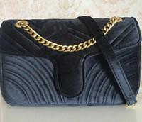 Venda Moda carteira bolsa das mulheres Sacos Bolsas Mulheres 26 centímetros de ouro cadeia Strap saco de veludo Crossbody Shoulder Bags Totes saco do mensageiro Designer