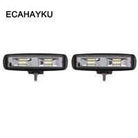 ECHAYAKU 2x Off-Road-24W 6-Zoll-Auto-LED-Arbeits-Licht Bar Scheinwerfer SUV LKW-Anhänger Wagon 4x4 Pickup Motorrad 12V 24V Nebel-Lampe