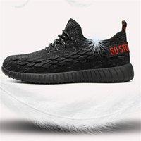 Горячая распродажа - легкая стальная стальная носящая обувь для мужчин летний антисеменной пирсинговой рабочей туфли сандалии сетки кроссовки мужчин