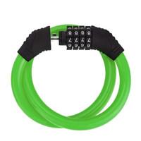 360 roation Acero Seguridad 4 dígitos candado contraseña universal bloqueo de cable se puede extender accesorios de bicicleta candado Bicicleta