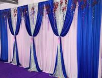 3M * 6M Hintergrund mit Pailletten Girlanden Hochzeit backcloth Mit Swags Partei Vorhang Hochzeit Bühne Feier-Hintergrund Graduierung Bühne