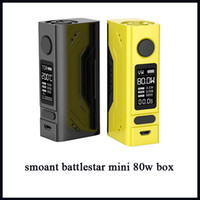 Smoant Battlestar Mini 80W TC Box MOD Écran de visualisation OLED Aimants durables Support de couverture arrière VW VW E Mod.