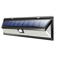 118LED SMD 태양 램프 방수 야외 조명 정원 조명 코트 야드 PIR 모션 센서 긴급 LED 태양 벽 램프
