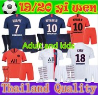 Adult and kids 19 20 PSG maillots de foot MBAPPE soccer jers...