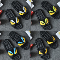 Designer sandals Rubber slide sandal Eye Monster men slipper...