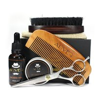 Beard Balm Cream Argan Oil Comb Brush Scissors Shape Conditi...