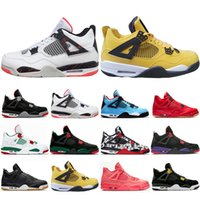 Cheaper New Bred Pale Citron Tattoo 4 IV 4s men Basketball S...