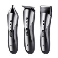 3 em 1 aparador de pêlos elétrico recarregável Ouvido, Nariz Shaver Clipper Cabelo Profissional Elétrica Navalha Beard Shaver