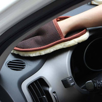 Hot Sale Car Care Rengöring Borstar Polering Mitt Borste Super Clean Wool Car Wash Glove Soft Care Rengöringsverktyg