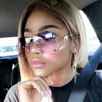 Caliente la venta de gafas de sol de tendencia señoras de Europa y América, gafas sin marco, gafas de sol 2020 Top producto de gama alta rana