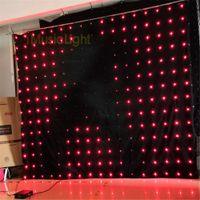 P18 2.5m * 3M LED 비디오 커튼 DMX 컨트롤러 60 애니메이션 패턴 크리스마스 효과 빛 LED 비전 커튼