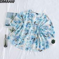Frauen Blusen Hemden Dimanaf Plus Größe Frauen Bluse Sommer Strand Stil Dame Tops Tunika Chiffon Blumendruck Dünne Übergröße Weibliche Tuchin