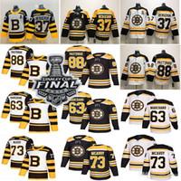 2019 Stanley Cup Boston Bruins Hockey 37 Patrice Rask 63 Brad Marchand 88 David Pastrnak Hockey Jersey