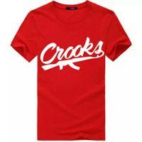 Crooks und Schlösser T Shirts Männer Kurzarm Baumwolle Mode-Mann-T-Shirt CROOKS Brief Männer-T-Shirt Spitzen T Shirt Größe S-3XL