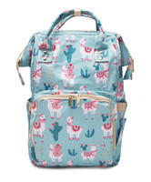 Wholesale Supplier Llama Diaper Backpack Canvas Diaper Mummy...