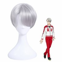 Yuri !!! on Ice Nikiforov Victor Argent courte perruque cosplay complète pour hommes
