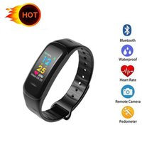 C18 Smart Bracelet Heart Rate Monitor Life Waterproof Fitnes...
