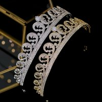 De lujo de Europa tiaras de la boda accesorios para el cabello diadema corona corona tiara de novia de la joyería circón corona Cascos