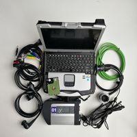 Auto-Diagnosetool V03.2021 MB SD C4 STAR Compact 4 mit WLAN für Autos CF30 Laptop