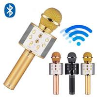 Беспроводной микрофон Универсальный Karaoke Mic Bluetooth Стенд Радио Артефакт КТВ Петь Mobile Phonerecording Studio Free Delivery