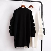 Women Spring Patchwork Long- Sleeve Sweater Warm Turtleneck L...