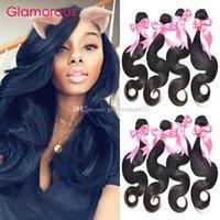 Glamorous peruviano indiano indiano capelli brasiliani tessuti per capelli 4 bundle Wave Body Wave Virgin Human Hair Doppia trama Remy Capelli Estensioni per le donne