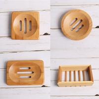 nueva Ronda y jabón Squarec Plato soporte de Protección Ambiental de jabón de bambú natural de secado de jabón creativo boxT2I5761-1