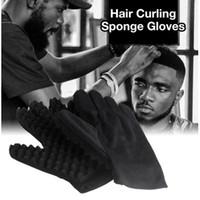 1 pc Moda Onda Barber Luvas escova de cabelo esponja para Dreads Afro Locs Torça onda Bobina ferramenta Magic