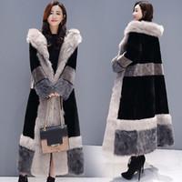 Abrigo de invierno casual Mujer 2019 Moda Chaqueta de manga larga Abrigo Cálido Suelto Grueso Alargar Piel sintética Prendas de abrigo Tallas grandes Mujer