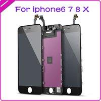 100% testado painéis de alta qualidade para iphone 6g 6s 6p 6sp 7g 7 pg 8p lcd display tela de toque digitador complete substituição de montagem preto branco
