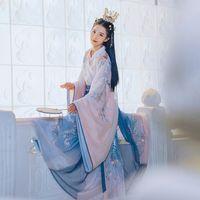 New Cosplay Hanfu chinês antigo traje Dinastia Tang Suit Folk Fairy Dress por Mulheres Princesa Festival Outfits Dança traje desgaste diário