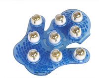 Handheld rotazione di 360 gradi completamente Body Massage rilassamento Spazzola 9pc sfera d'acciaio del Massager del rullo che dimagrisce Palm Guanto Rotary Head strumento di rilassarsi