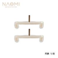 NAOMI 1/8 Violon Épaule Reste Pieds 2 PCS Épaule Repose Jambes Remplacements Pour 1/8 Violon Blanc Violon Pièces Accessoires