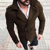 Chaqueta de invierno del otoño de los hombres adelgazan Chaqueta Hombre 2019 Solid Streetwear Hombres Ropa Tops manga larga Coats Jakcets Veste Homme
