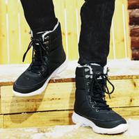 Hot Sale-UPUPER Winter Schnee Stiefel Herren Schuhe mit Pelz Plüsch Warm Wasserdicht Casual Male Winterstiefel Sneakers Unisex Plus Size 36-48