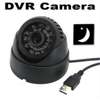 Slot de 24 IR Led Detecção Inteligente de Indoor Vigilância Video Recorder Infrared Night Vision Segurança CCTV DVR Camera Com TF