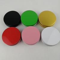 3.5 Oz 100 ml 100 g Multi-coloured rotondo rotondo lattine di alluminio a vite LID TINS TINS Vasetti vuoti Slip Slide Contenitori YTP422