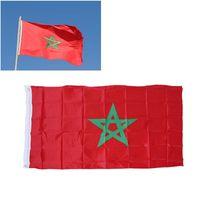 황동 그로멧 송료 무 모로코 국기 3x5FT 150x90cm 폴리 에스터 인쇄 실내, 실외 행잉 뜨거운 판매 국기