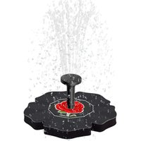 Énergie solaire Fontaine Pompe à eau solaire Fontaine pour étang submersible Arrosage automatique Piscine Rose Bath Fountain Pompe