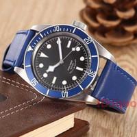 Deri bant Tudorrr Paslanmaz Çelik Otomatik Mekanik Kırmızı Çerçeve Siyah ROTOR MONTRES lüks İzle erkek tasarımcı Saatler saatı