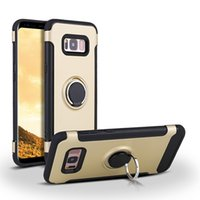 Hybrid 2 in 1 case with finger ring holder for Samsung Galax...