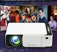 T5 Taşınabilir LED Projektör 4 K 2600 Lümen 1080 P HD HDMI Video Projektörleri USB Beamer Için Ev Sineması Sinema Ile WiFi