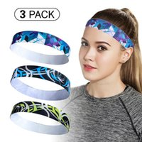 Ioga Bandas de Cabelo 3 Pcs Headbands Set Running Fitness Sport Faixa Futebol Anti-Slip Sweatband Gym Training Headband Equipamento