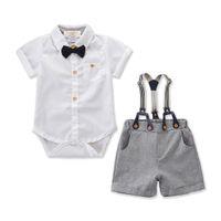Новорожденный младенец Baby Boy Gentleman Одежда Рубашка Топ Брюки Шорты Экипировка Набор