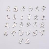 26 PCS 12mm Lettre en acier inoxydable A-Z Miroir Perlée Perle Perlée Lettres Charm pour la fabrication de bijoux DIY
