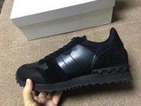 Hot Women Men chaussures de sport camouflage en cuir véritable lacets jusqu'à chaussures de luxe unisexe rivets botte plate