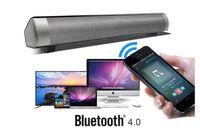 İnce Manyetik Kablosuz 3D Soundbar Ev Sinema Sistemi LP 08 HIFI Kutusu Bluetooth Subwoofer Ses Çubuğu Hoparlör Bas Stereo TF Kart ile Mic